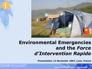 Environmental Emergencies and the  Force d'Intervention Rapide