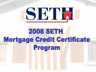 2008 SETH MCC Program
