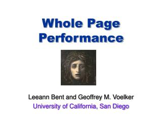 Whole Page Performance