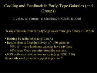 Cooling and Feedback in Early-Type Galaxies (and Groups)