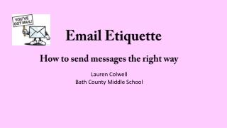 Email Etiquette:
