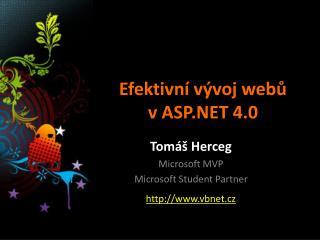 Efektivní vývoj webů v ASP.NET 4.0