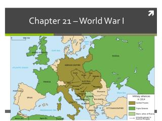 Chapter 21 – World War I