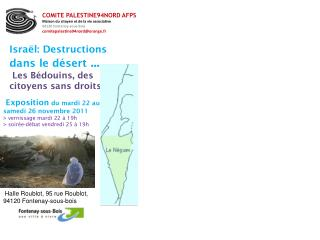 Israël: Destructions  dans le désert  ...  Les Bédouins, des citoyens sans droits