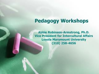 Pedagogy Workshops