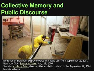 Collective Memory and Public Discourse