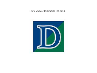 New Student Orientation Fall 2014