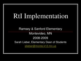 RtI Implementation