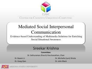 Sreekar Krishna Committee: Dr.  Sethuraman  ( Panch )  Panchanathan , Chair