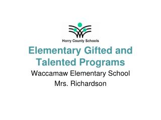 Elementary Gifted and Talented Programs