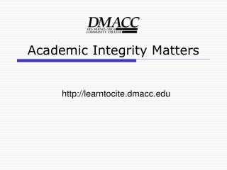 Academic Integrity Matters