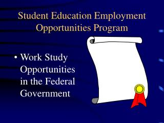 Student Education Employment Opportunities Program