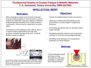Fundamental Studies of Contact Fatigue in Metallic Materials