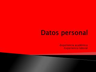 Datos  personal