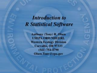 Introduction to R Statistical Software