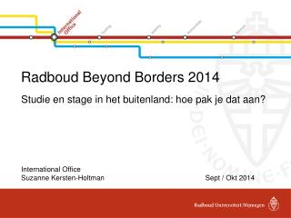 Radboud Beyond Borders 2014