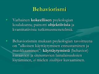 Behaviorismi