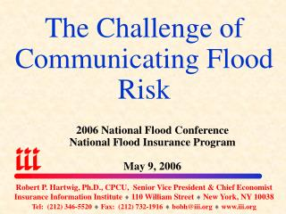 The Challenge of Communicating Flood Risk