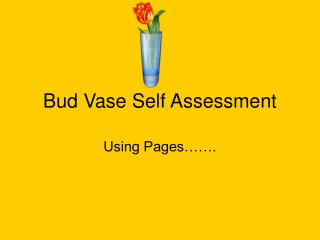Bud Vase Self Assessment