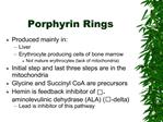 Porphyrin Rings
