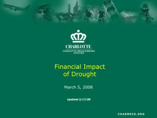 Financial Impact of Drought