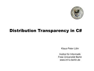 Distribution Transparency in C#