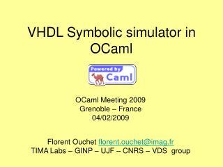 VHDL Symbolic simulator in OCaml