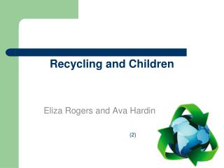 Recycling and Children