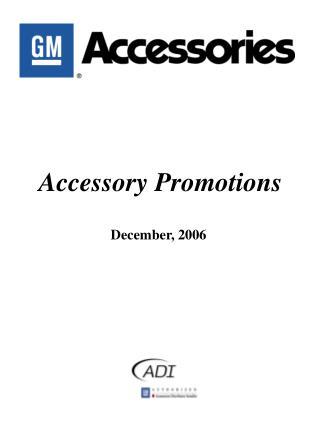 Accessory Promotions