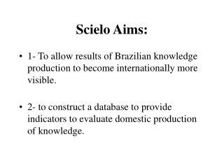Scielo Aims: