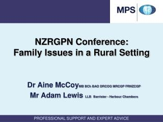 NZRGPN Conference:  Family Issues in a Rural Setting