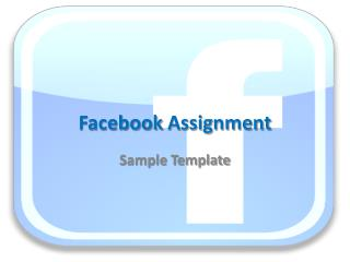 Facebook  Assignment