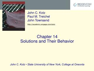 Chapter 14 Solutions and Their Behavior