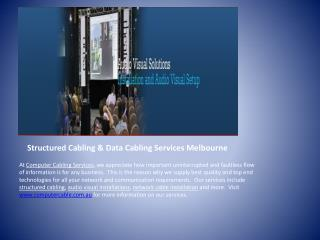 Structured Cabling & Data Cabling Services Melbourne