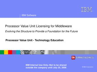 Processor Value Unit - Technology Education