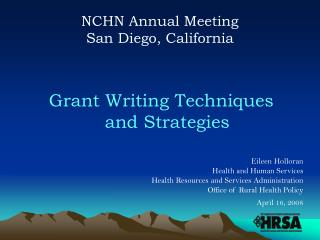 NCHN Annual Meeting San Diego, California