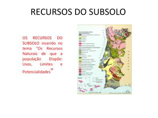 RECURSOS DO SUBSOLO