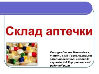 Склад аптечки