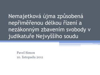 Pavel Simon 10. listopadu 2011