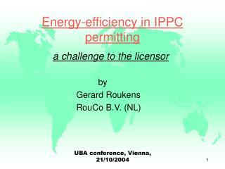 Energy-efficiency in IPPC permitting