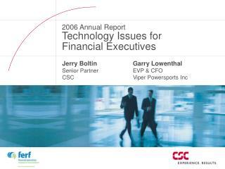Jerry Boltin Senior Partner CSC