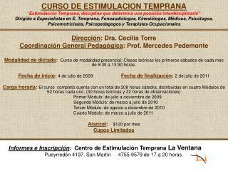 Dirección : Dra. Cecilia Torre Coordinación General Pedagógica : Prof. Mercedes Pedemonte