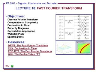 LECTURE 18:  FAST FOURIER TRANSFORM