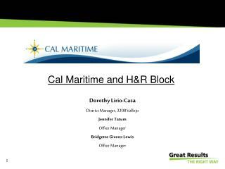 Cal Maritime and H&R Block