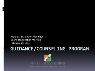 Guidance/Counseling program