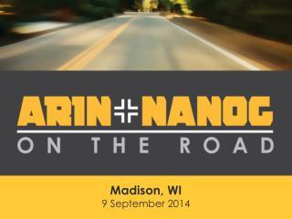 Madison, WI 9 September  2014