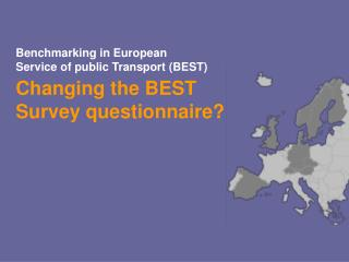 Benchmarking in European  Service of public Transport (BEST)