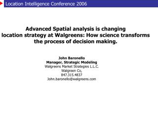 Location Intelligence Conference 2006
