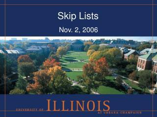 Skip Lists