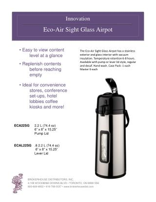 Innovation Eco-Air Sight Glass Airpot